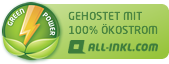 gehostet mit 100% Ökostrom von all-inkl.com
