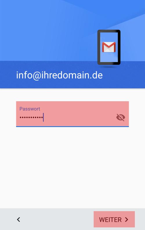 Gmail App - E-Mail-Konto einrichten, Bild 5
