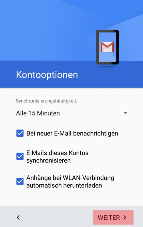 Gmail App - E-Mail-Konto einrichten, Bild 8