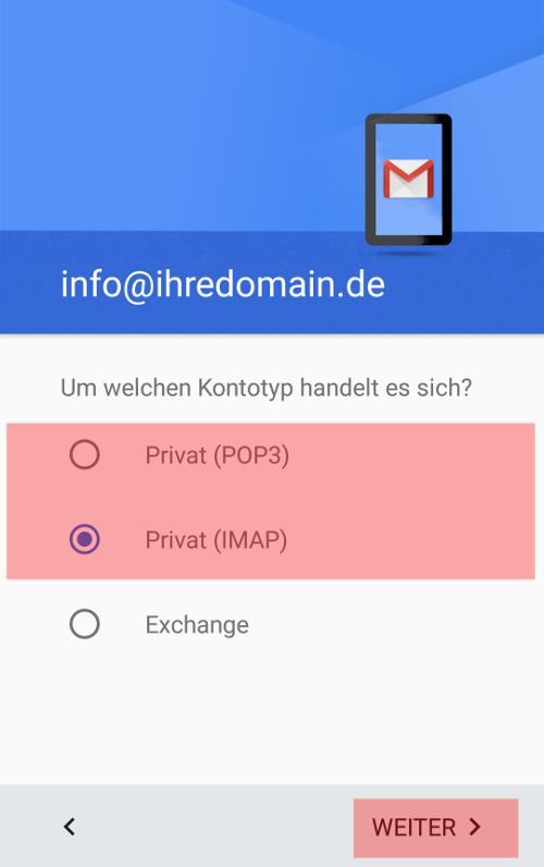 Gmail App - E-Mail-Konto einrichten, Bild 4
