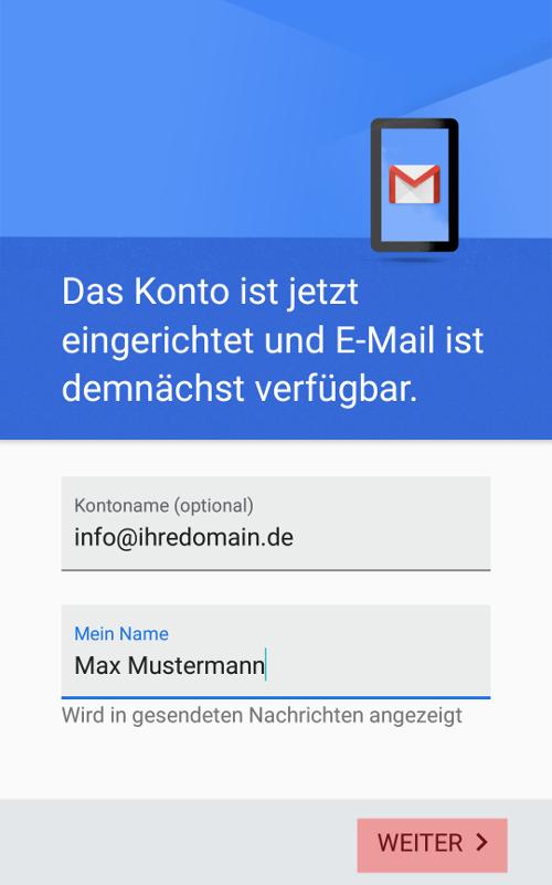 Gmail App - E-Mail-Konto einrichten, Bild 9