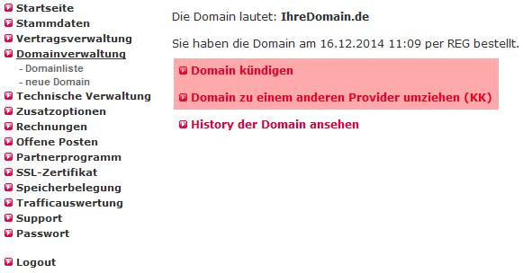 Kündigung - Domain schließen oder zu anderem Provider wechseln, Bild 5