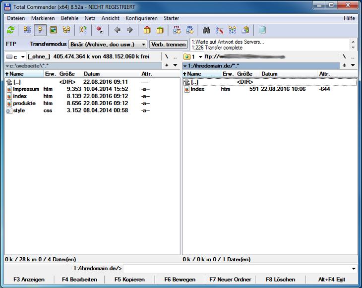 Total Commander 8.52a - Dateien hochladen, Bild 1
