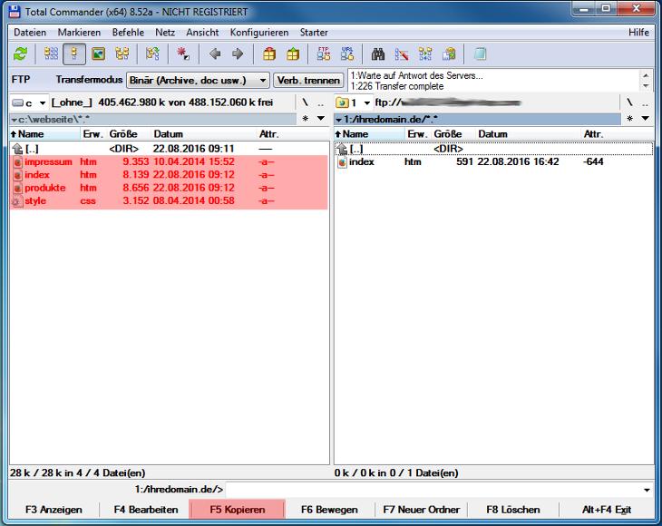 Total Commander 8.52a - Dateien hochladen, Bild 2
