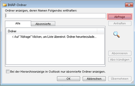Outlook - IMAP-Ordner abonnieren, Bild 2