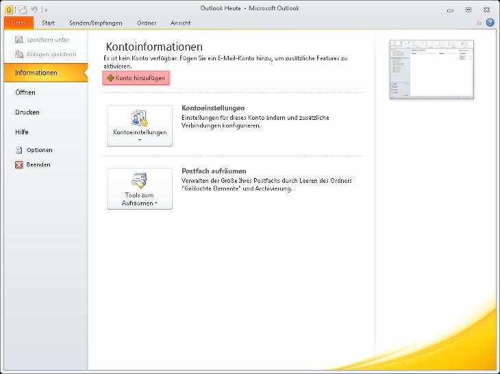 Outlook - 2010, Bild 1