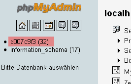 phpMyAdmin - Version 2.6 - Datenbanksicherung anlegen, Bild 1