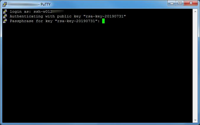 Dateiverwaltung - Verbindung mit PuTTY aufbauen (Public-Key-Verfahren), Bild 10