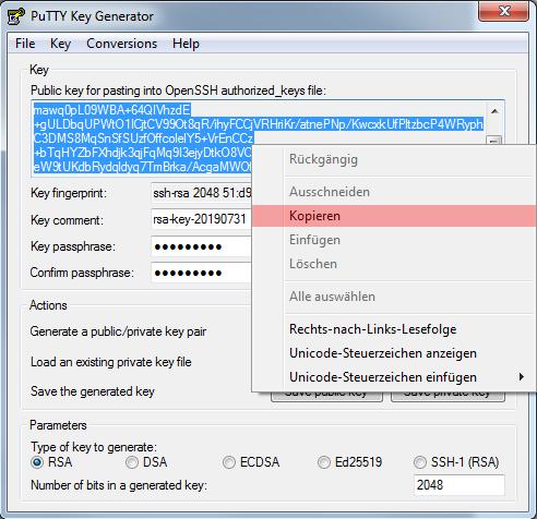 Dateiverwaltung - Verbindung mit PuTTY aufbauen (Public-Key-Verfahren), Bild 7