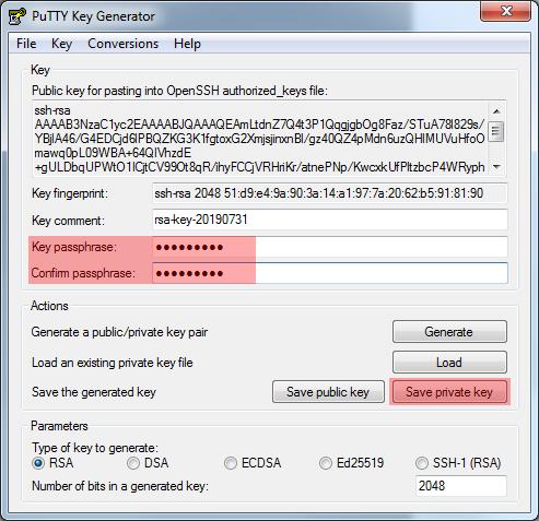 WinSCP 5.7.7 - Verbindung per SFTP (Public-Key-Verfahren), Bild 7