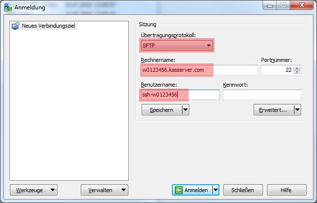 WinSCP 5.7.7 - Verbindung per SFTP (Public-Key-Verfahren), Bild 2