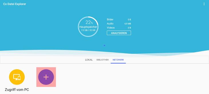 Anleitungen, KAS, WebDisk (Online-Festplatte), Einbindung