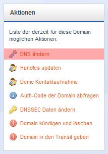 Domainverwaltung - Änderung der Nameserver, Bild 3