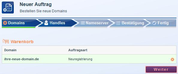 Domain bestellen - Neuregistrierung, Bild 3