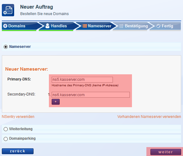 Domain bestellen - Neuregistrierung, Bild 7