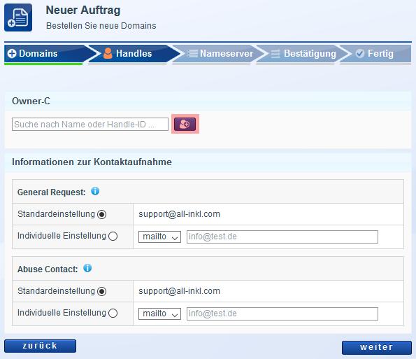 Domain bestellen - Neuregistrierung, Bild 4