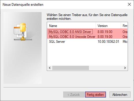 ODBC-Verbindung zu MySQL - Einrichtung der Verbindung unter Windows 10, Bild 4