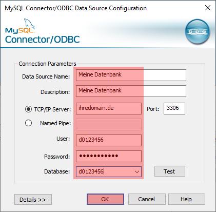 ODBC-Verbindung zu MySQL - Einrichtung der Verbindung unter Windows 10, Bild 5