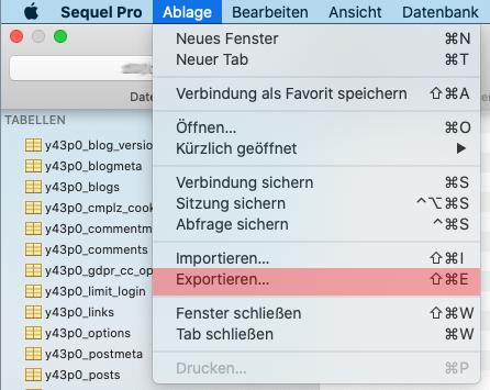 Sequel Pro für macOS - Datenbanksicherung anlegen, Bild 1