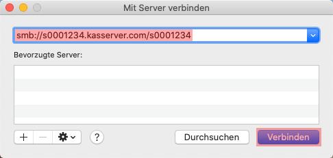 Einbindung als Netzlaufwerk - Netzlaufwerk einbinden -  macOS, Bild 2