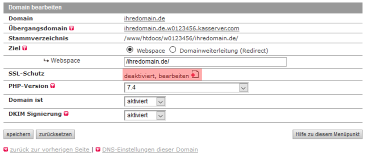 SSL-Zertifikat - Einbindung selbstsigniertes SSL-Zertifikat, Bild 2