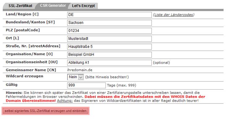 SSL-Zertifikat - Einbindung selbstsigniertes SSL-Zertifikat, Bild 3