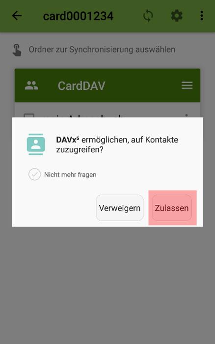 CardDAV - Synchronisierung von Kontakten - Android DAVx5 (DAVdroid), Bild 5