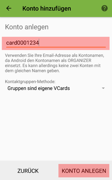 CardDAV - Synchronisierung von Kontakten - Android DAVx5 (DAVdroid), Bild 3