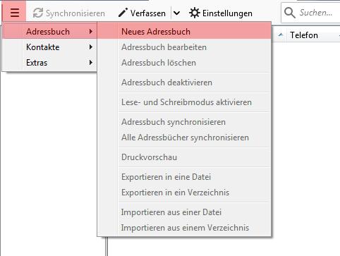 CardDAV - Synchronisierung von Kontakten - Thunderbird CardBook, Bild 3