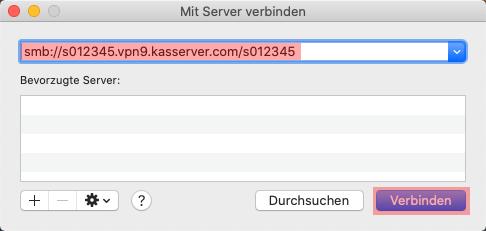 Einbindung als Netzlaufwerk - Netzlaufwerk über VPN verbinden - MAC OS, Bild 11