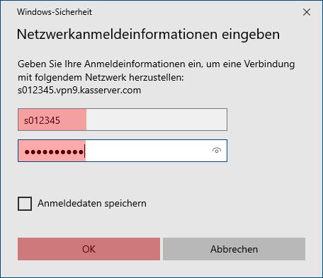 Einbindung als Netzlaufwerk - Netzlaufwerk über VPN verbinden - Windows 10, Bild 12