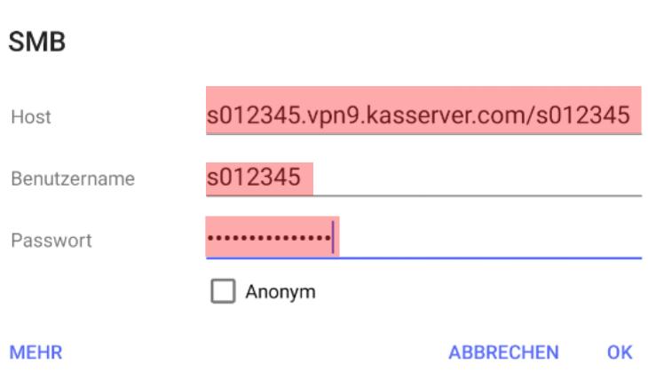 Einbindung als Netzlaufwerk - Netzlaufwerk über VPN verbinden - Android, Bild 9