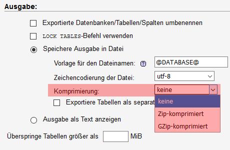 phpMyAdmin - Datenbanksicherung anlegen, Bild 5