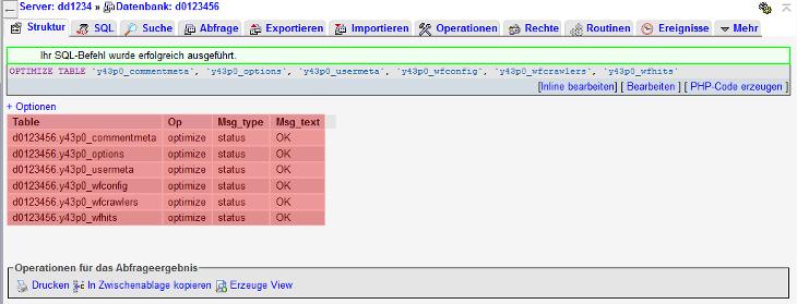 MySQL-Datenbank - Tabellen optimieren, Bild 5