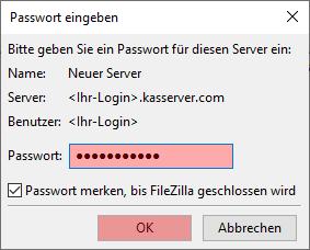 FileZilla - Version 3 - Verbinden und Dateien hochladen, Bild 3