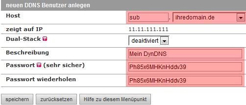 DDNS - Dynamisches DNS - Benutzer anlegen im KAS, Bild 4