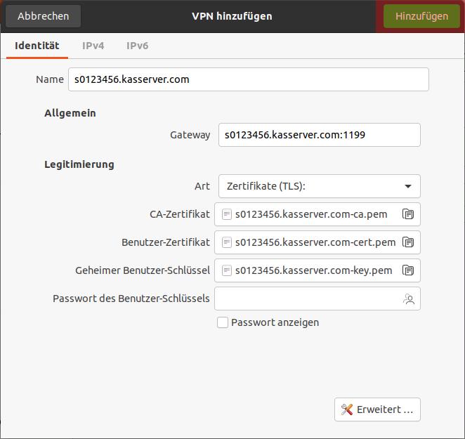 Einbindung als Netzlaufwerk - Netzlaufwerk über VPN verbinden - Ubuntu Gnome, Bild 9