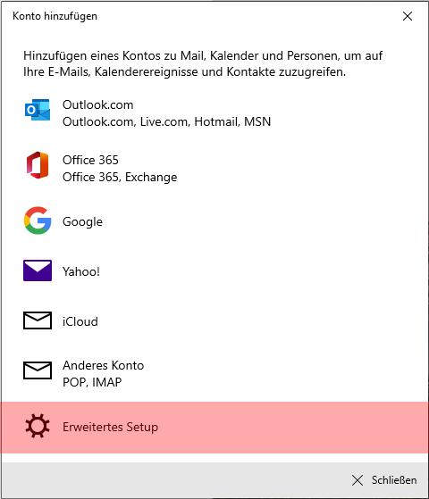 Windows 10 App - E-Mail-Konto einrichten, Bild 4