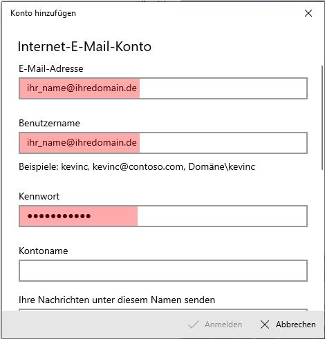 Windows 10 App - E-Mail-Konto einrichten, Bild 6
