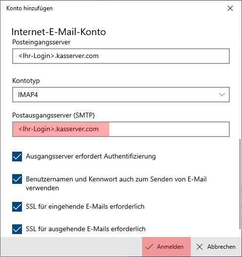 Windows 10 App - E-Mail-Konto einrichten, Bild 8
