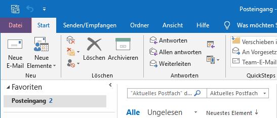 Outlook - 2019 - SMTP-Authentifizierung aktivieren, Bild 1