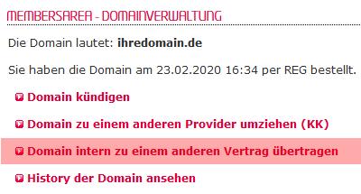 so funktioniert ein interner Wechsel - Freigabe der Domain, Bild 4