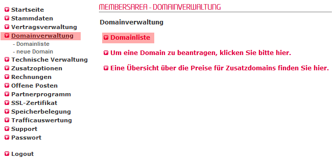 so funktioniert ein interner Wechsel - Freigabe der Domain, Bild 2