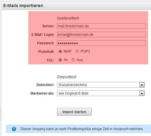 ALL-INKL.COM WebMail - Importieren von E-Mails aus anderen Postfächern, Bild 3