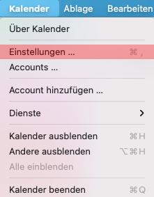 CalDAV - Kalenderfunktion - macOS, Bild 1