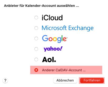 CalDAV - Kalenderfunktion - macOS, Bild 3