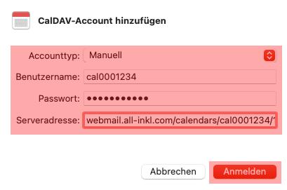 CalDAV - Kalenderfunktion - macOS, Bild 4