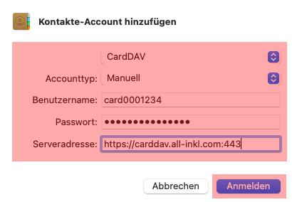 CardDAV - Synchronisierung von Kontakten - macOS, Bild 4
