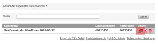WordPress - Änderung des Passworts/der E-Mail-Adresse über die Datenbank, Bild 2