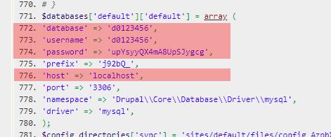 Konfigurationsdateien - Prüfung der Datenbankzugangsdaten, Bild 5